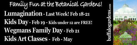 Family Fun at the Botanical Gardens Winter 2015