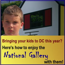 How to bring kids to the National Gallery, Washington DC