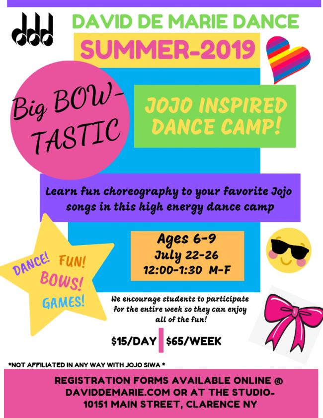 David De Marie Dance - JOJO Inspired Dance Camp | Kids Out