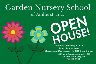 Garden Nursery School Open House Kids