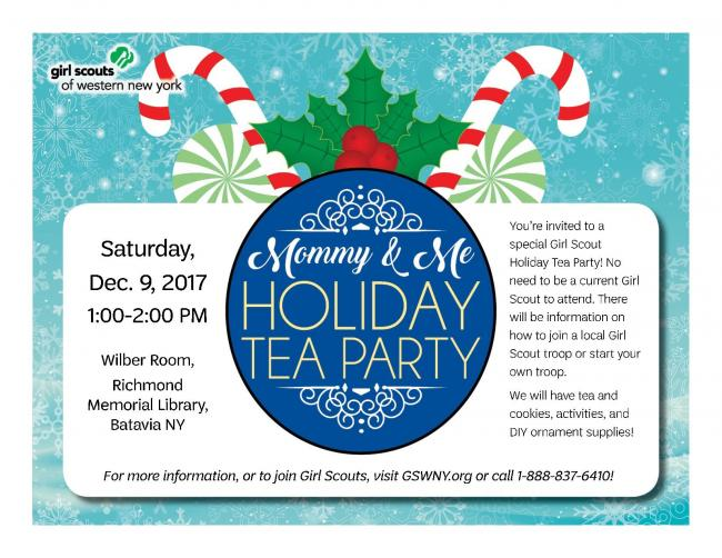 Mommy Me Holiday Tea Party Kids Out And About Buffalo
